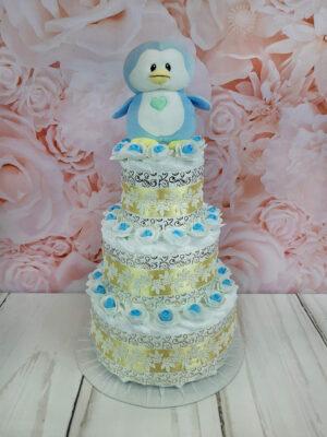 sinine mähkmetort pingviiniga 3